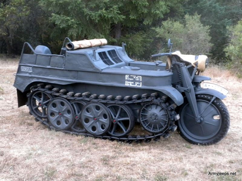 Military Tanks For Sale >> German Kettenkrad for sale priced at $135,000