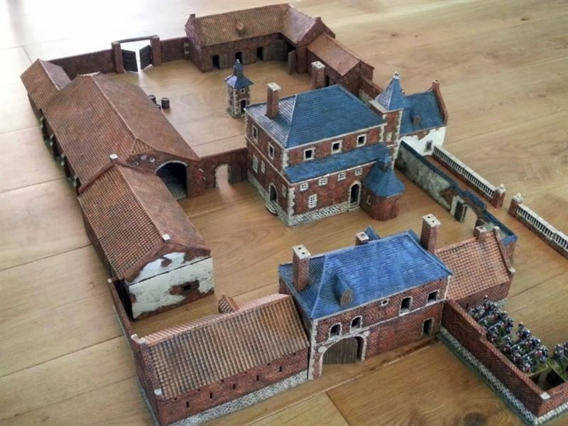 French Farmhouse Plans Defence Of Hougoumont 1815 Then Amp Now