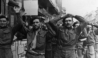 British POWs at Arnhem in September 1944.British POWs at Arnhem in September 1944.