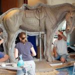 Remount Camp prepares for War Horse Statue