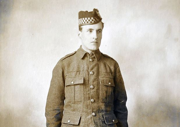 Private James Clark survived a machine gun attack and was saved by German soldiers