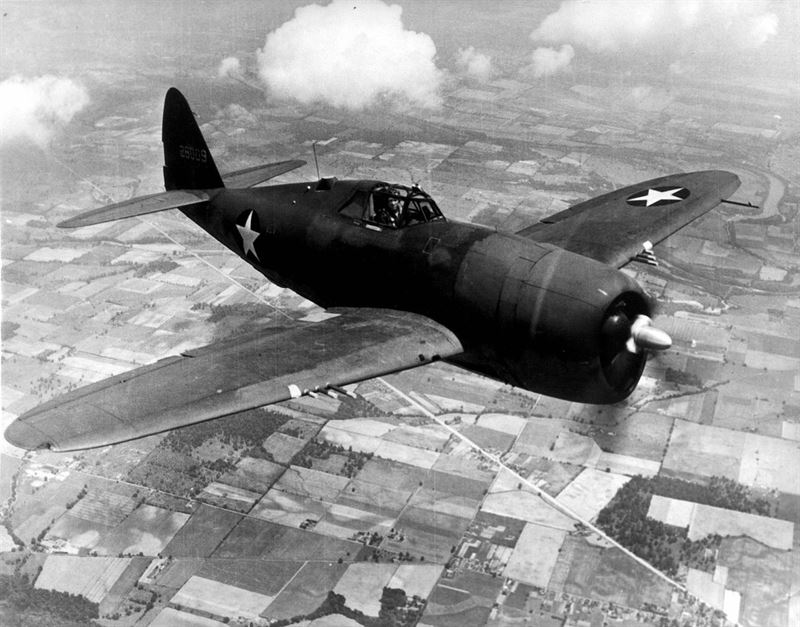 Republic P-47D Thunderbolt.