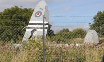 WWII Spitfire crashed at Biggin Hill. (Credits: Twitter @ KhurramFarooq)