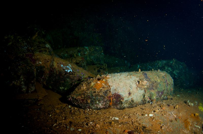 Ammunition of the Yamagiri Maru (Credits: Brandi Mueller)