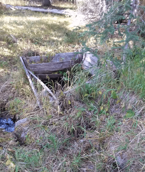 Remains of a springhouse used to keep food cool.