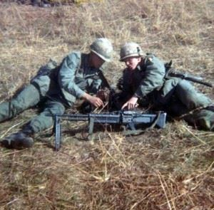 Bradley Jimerson (left) and Alan Johnson at Fort Campbell, Ky., in 1967. Jimerson was drawn to Army Airborne. (Credits: Bradley Jimerson)