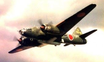 Ohka carried under the belly of a Betty of 721st Naval Air Group (Credits: Wikipedia)