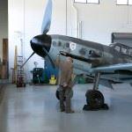 Hans Meyer, former Luftwaffe Pilot near a Bf109