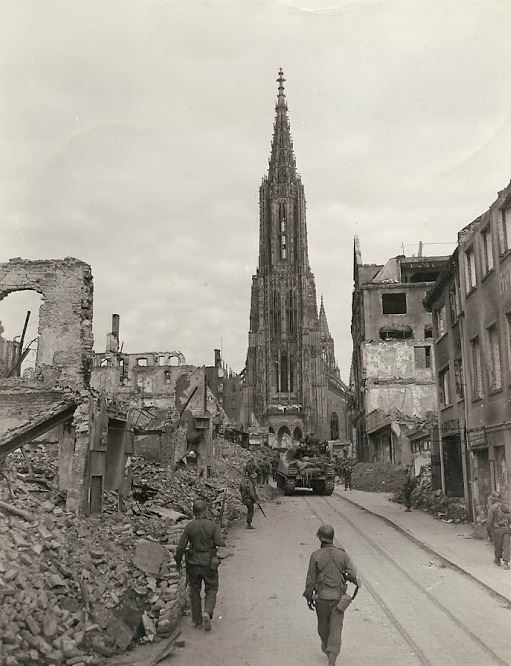Destroyed village of Ulm, Germany.