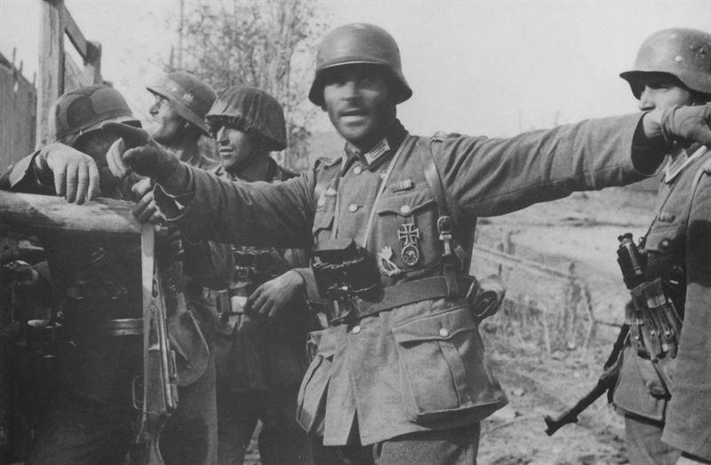 Friedrich Konrad Winker in Stalingrad, 1942.