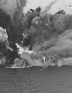 HMS Barham Explosion