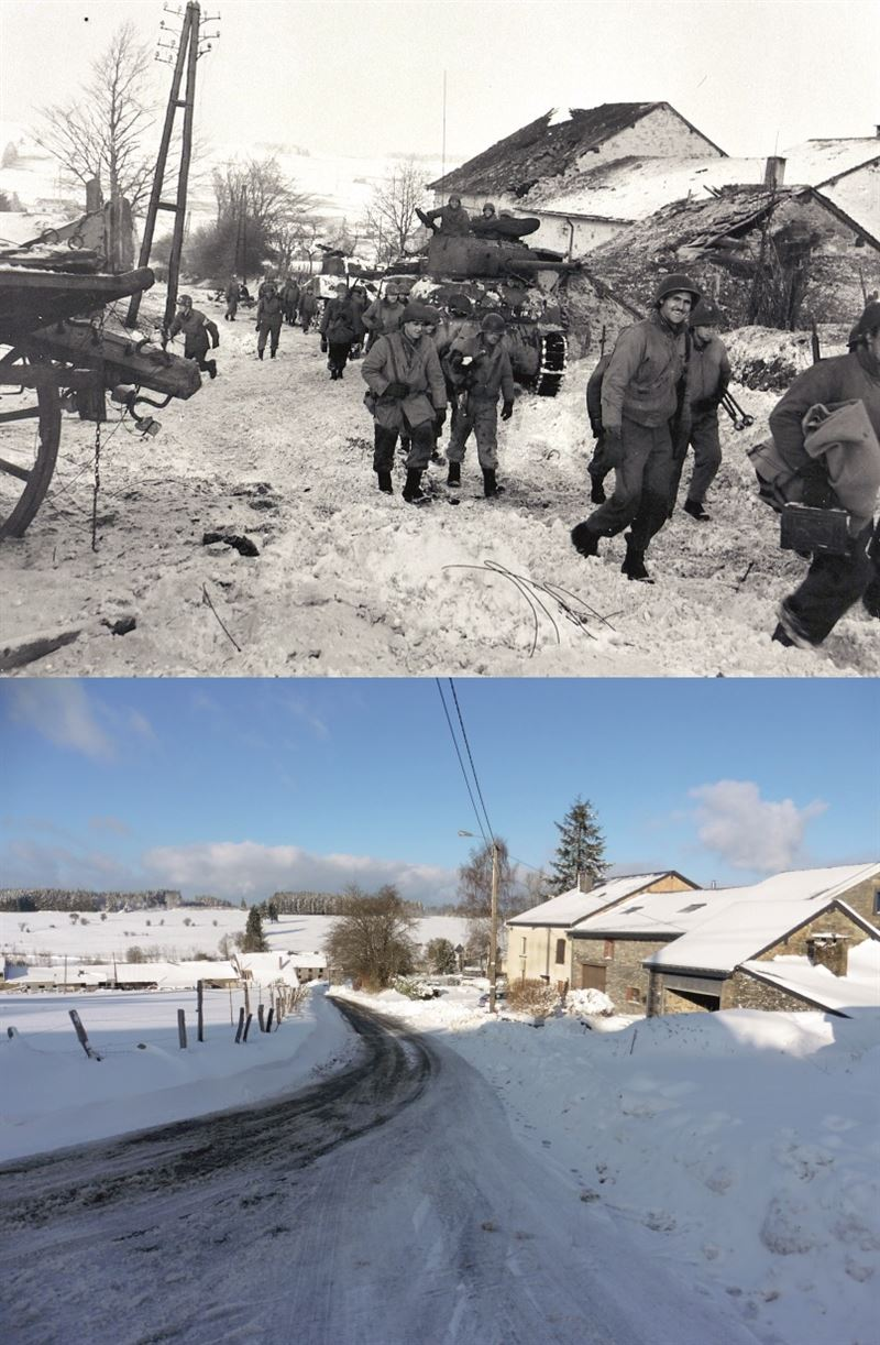 Battle of the Bulge - Now & Then image Bihan 83rd Inf Div