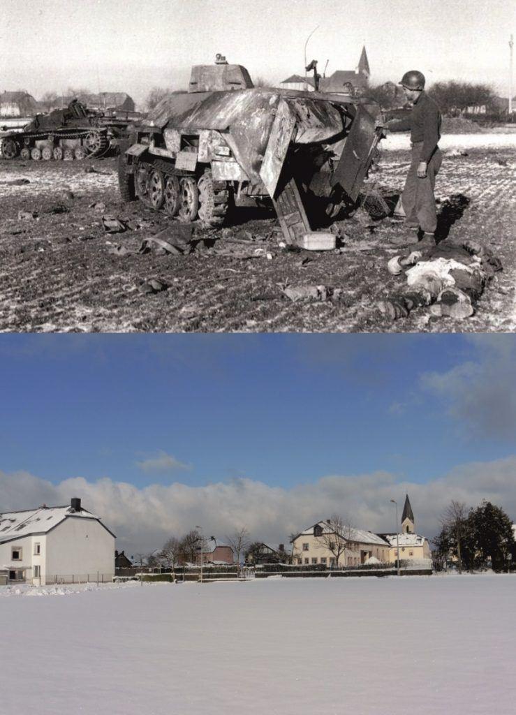 Battle of the Bulge - Now & Then image Heiderscheid