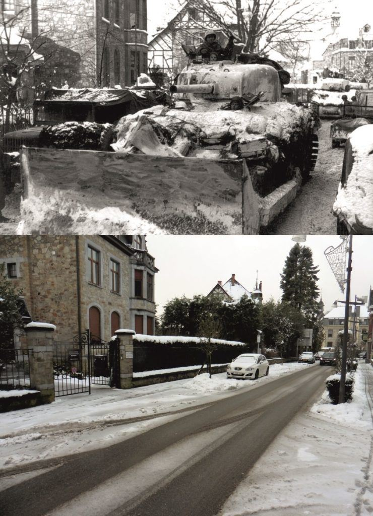 Battle of the Bulge - Now & Then image Malmedy