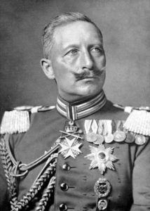 Kaiser Wilhelm II during world war 1