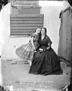 Rose O'Neal Greenhow with her daughter in D.C., 1862.