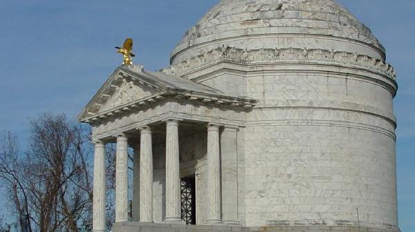 An elaborate memorial erected in the Vicksburg military park, modeled after the Pantheon and the Temple of Minerva Medici in Rome.