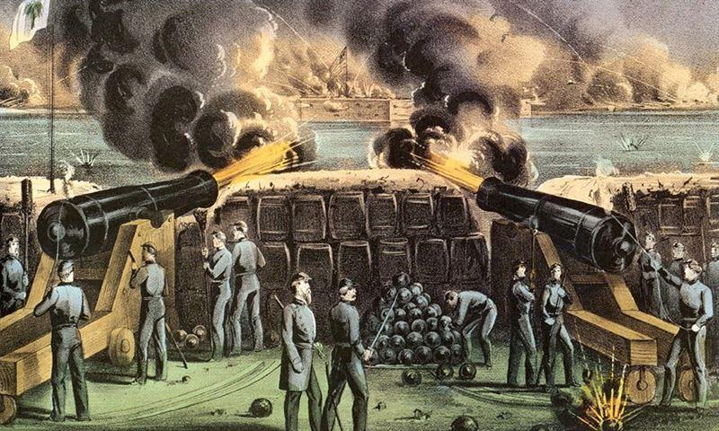 Confederate Batteries Fort Sumter
