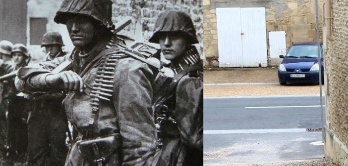 Otto Funk and his unit in Normandy: Now & Then