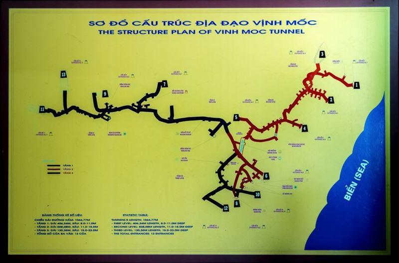 Vinh Moc tunnel plan