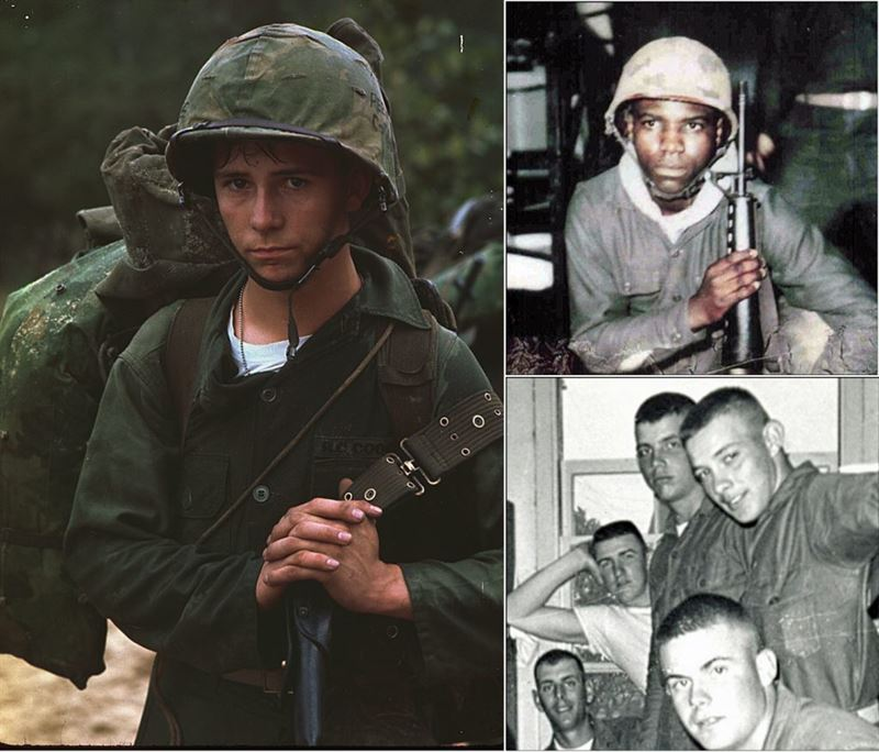Young American Soldiers of the Vietnam War