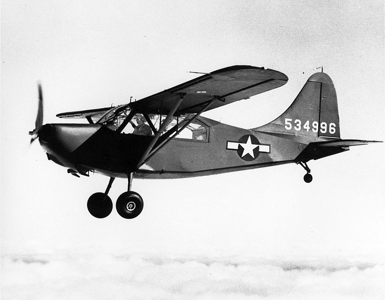 "Stinson L-5 Sentinel, also known as the ""Flying Jeep"""